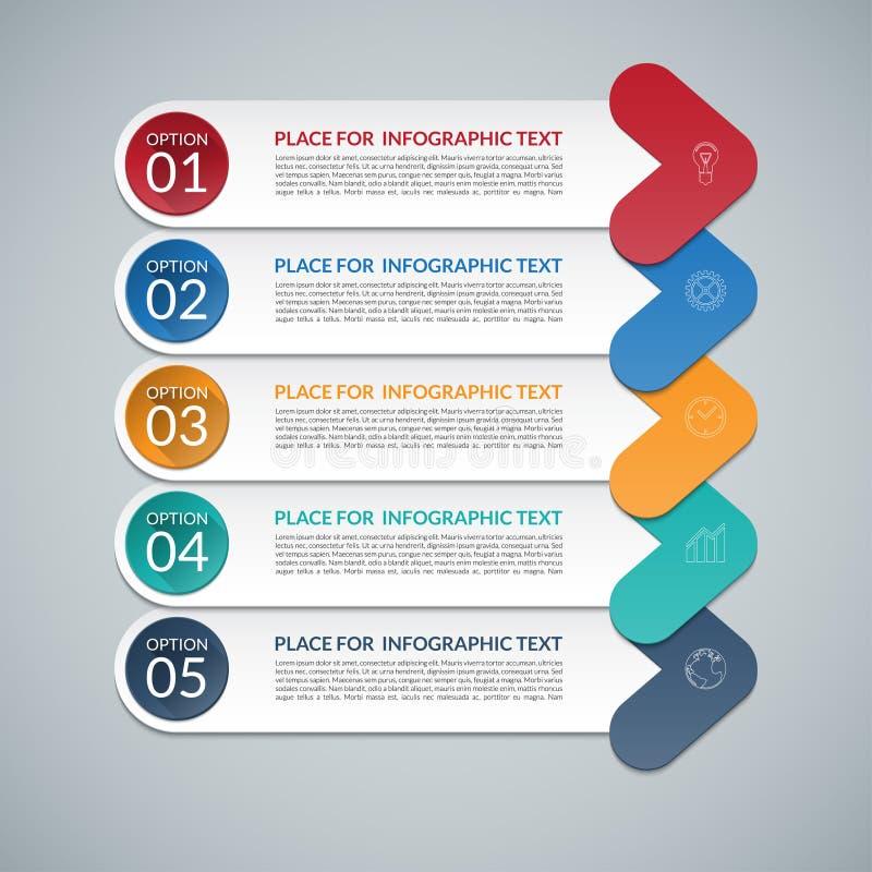 Σύγχρονο πρότυπο σχεδίου βελών infographic διανυσματική απεικόνιση