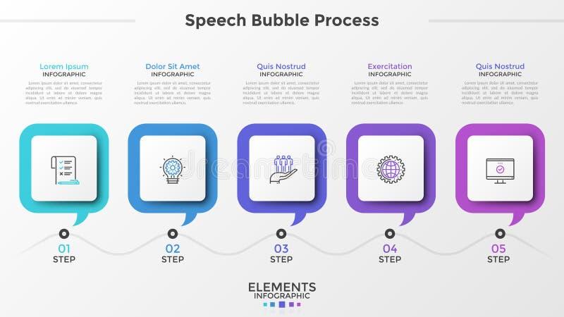 Σύγχρονο πρότυπο Infographic διανυσματική απεικόνιση