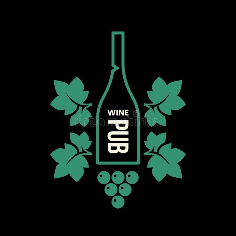 Σύγχρονο σημάδι λογότυπων κρασιού διανυσματικό για την ταβέρνα, το εστιατόριο, το σπίτι, το κατάστημα, το κατάστημα, τη λέσχη και ελεύθερη απεικόνιση δικαιώματος