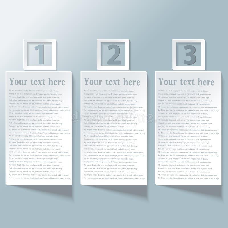 Σύγχρονο σπειροειδές έμβλημα επιλογών infographics διανυσματική απεικόνιση