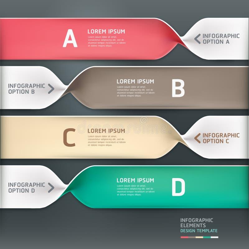 Σύγχρονο σπειροειδές έμβλημα επιλογών infographics. απεικόνιση αποθεμάτων