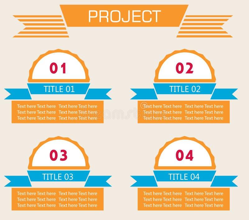 Σύγχρονο σπειροειδές έμβλημα επιλογών infographics απεικόνιση αποθεμάτων