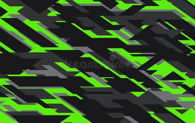 Σύγχρονο στρατιωτικό υπόβαθρο ύφους σύστασης camo Γεωμετρικό άνευ ραφής σχέδιο κάλυψης απεικόνιση αποθεμάτων