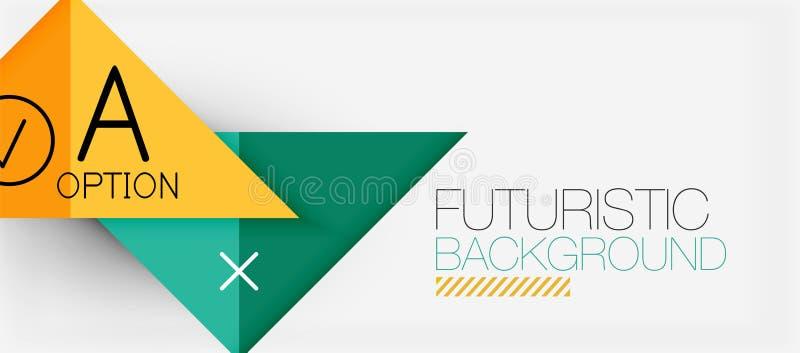Σύγχρονο σχέδιο εμβλημάτων τριγώνων Minimalistic, γεωμετρική περίληψη ελεύθερη απεικόνιση δικαιώματος
