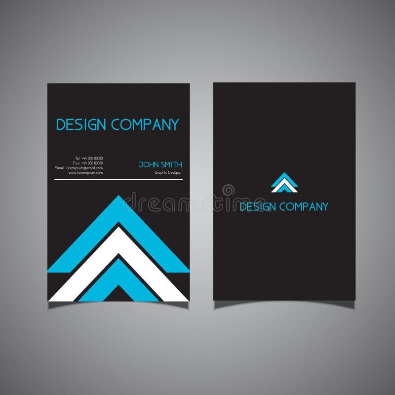 Σύγχρονο σχέδιο επαγγελματικών καρτών με τις μορφές βελών απεικόνιση αποθεμάτων