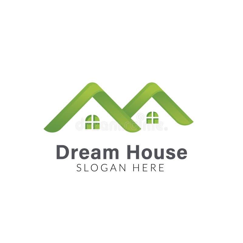 Σύγχρονο σχέδιο λογότυπων ακίνητων περιουσιών Δημιουργικό σχέδιο λογότυπων σπιτιών Αφηρημένο σχέδιο λογότυπων κτηρίων διανυσματική απεικόνιση