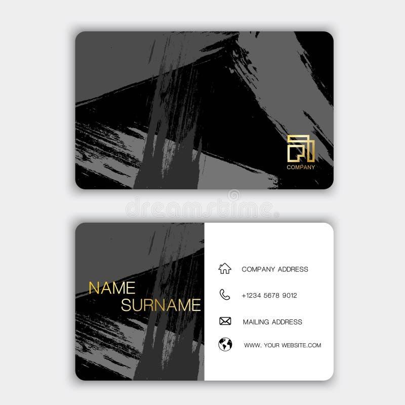 Σύγχρονο σχέδιο προτύπων επαγγελματικών καρτών Με την έμπνευση από την περίληψη Κάρτα επαφών για την επιχείρηση Δύο - πλαισιωμένο διανυσματική απεικόνιση