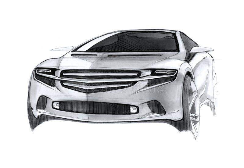 Σύγχρονο σχέδιο αυτοκινήτων έννοιας ελεύθερη απεικόνιση δικαιώματος