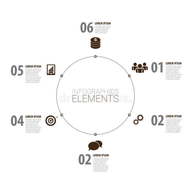 Σύγχρονο σχέδιο Infographic minimalistic διάνυσμα με τα εικονίδια ελεύθερη απεικόνιση δικαιώματος