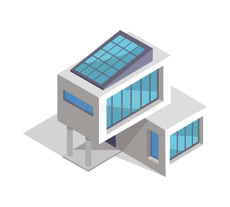 Σύγχρονο σχεδιάγραμμα σπιτιών, διανυσματική απεικόνιση ελεύθερη απεικόνιση δικαιώματος