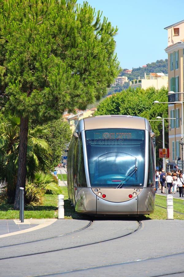 Σύγχρονο τραμ στη Νίκαια, Γαλλία στοκ φωτογραφία με δικαίωμα ελεύθερης χρήσης