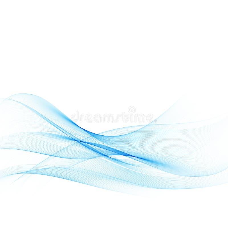 Σύγχρονο υπόβαθρο γραμμών Swoosh μπλε επίσης corel σύρετε το διάνυσμα απεικόνισης διανυσματική απεικόνιση