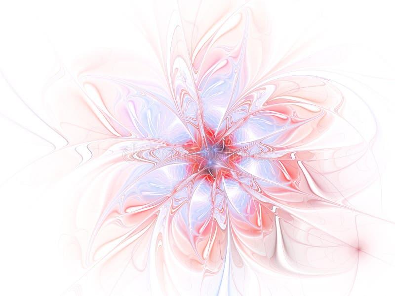 Σύγχρονο υπόβαθρο λουλουδιών υψηλής ανάλυσης με το μεγάλο εξωτικό λουλούδι κοιτάγματος διανυσματική απεικόνιση
