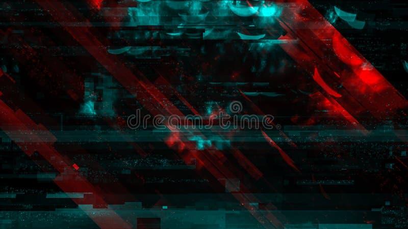 Σύγχρονο υπόβαθρο τεχνολογίας, cyber αφηρημένη ψηφιακή δυσλειτουργία στοκ φωτογραφία με δικαίωμα ελεύθερης χρήσης