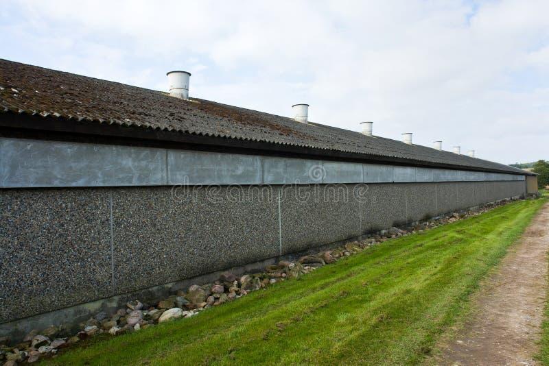 Σύγχρονο φάρμα πουλερικών στοκ φωτογραφία με δικαίωμα ελεύθερης χρήσης