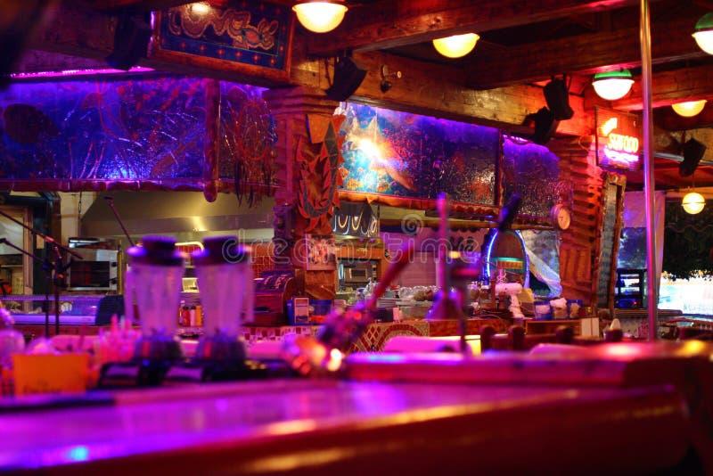 Σύγχρονο φραγμός-εστιατόριο στοκ φωτογραφία