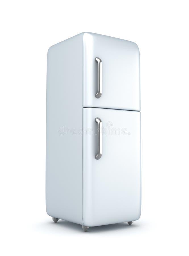 Σύγχρονο ψυγείο πέρα από την άσπρη ανασκόπηση διανυσματική απεικόνιση