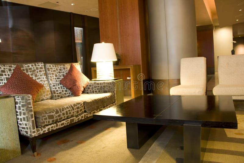 Σύγχρονο λόμπι ξενοδοχείων πολυτελείας στοκ φωτογραφίες