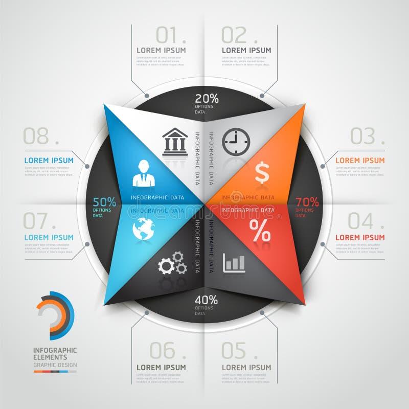 Σύγχρονο ύφος επιχειρησιακού origami γραφικής παράστασης πληροφοριών. ελεύθερη απεικόνιση δικαιώματος