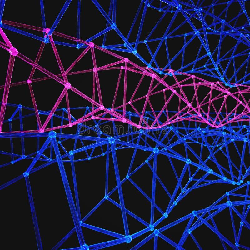 Σύγχρονο DNA μορίων δομών Άτομο Υπόβαθρο μορίων και επικοινωνίας για την ιατρική, επιστήμη, τεχνολογία, χημεία Ιατρικά 3 διανυσματική απεικόνιση