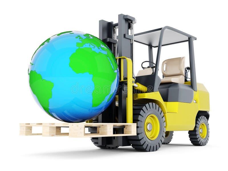 Σύγχρονο forklift φορτηγό απεικόνιση αποθεμάτων