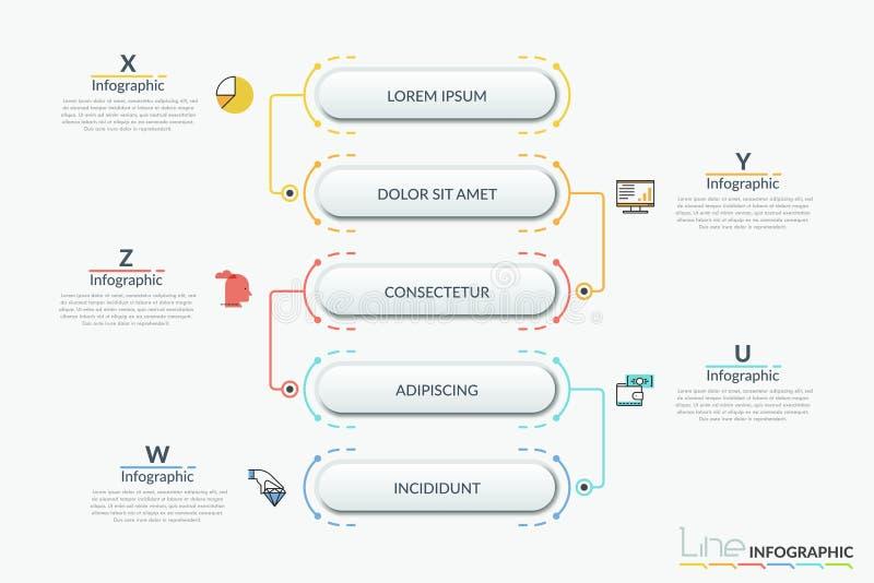 Σύγχρονο infographic πρότυπο σχεδίου απεικόνιση αποθεμάτων