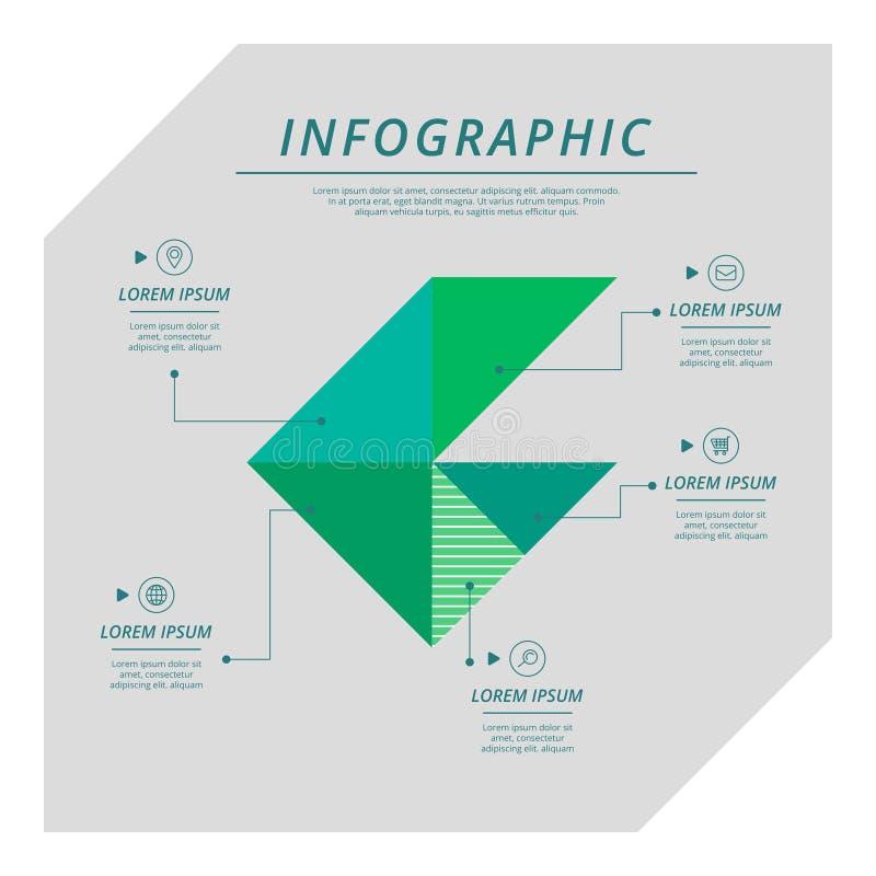Σύγχρονο infographic πρότυπο ελεύθερη απεικόνιση δικαιώματος
