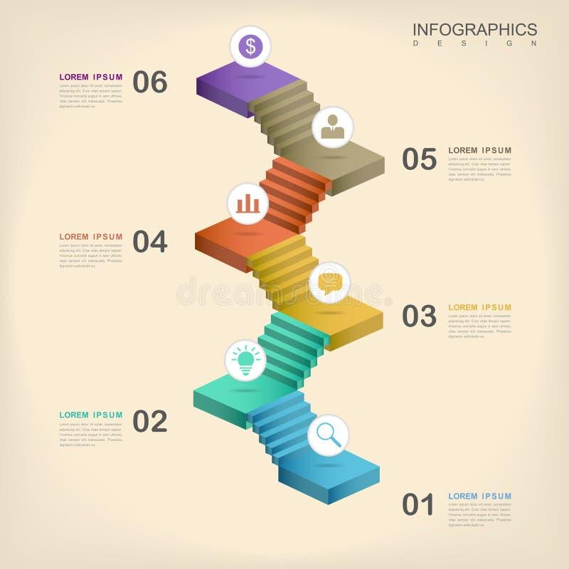 Σύγχρονο infographic σχέδιο ελεύθερη απεικόνιση δικαιώματος