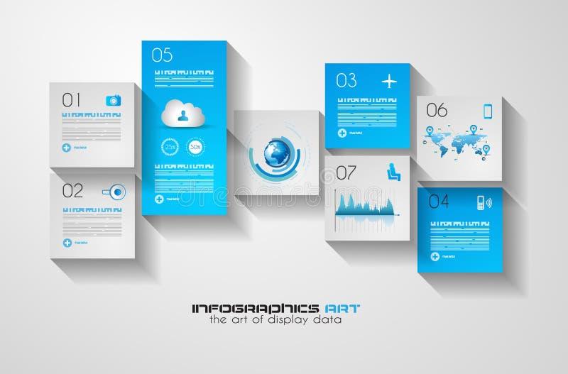 Σύγχρονο infographic σχεδιάγραμμα ύφους UI επίπεδο για την επίδειξη στοιχείων διανυσματική απεικόνιση