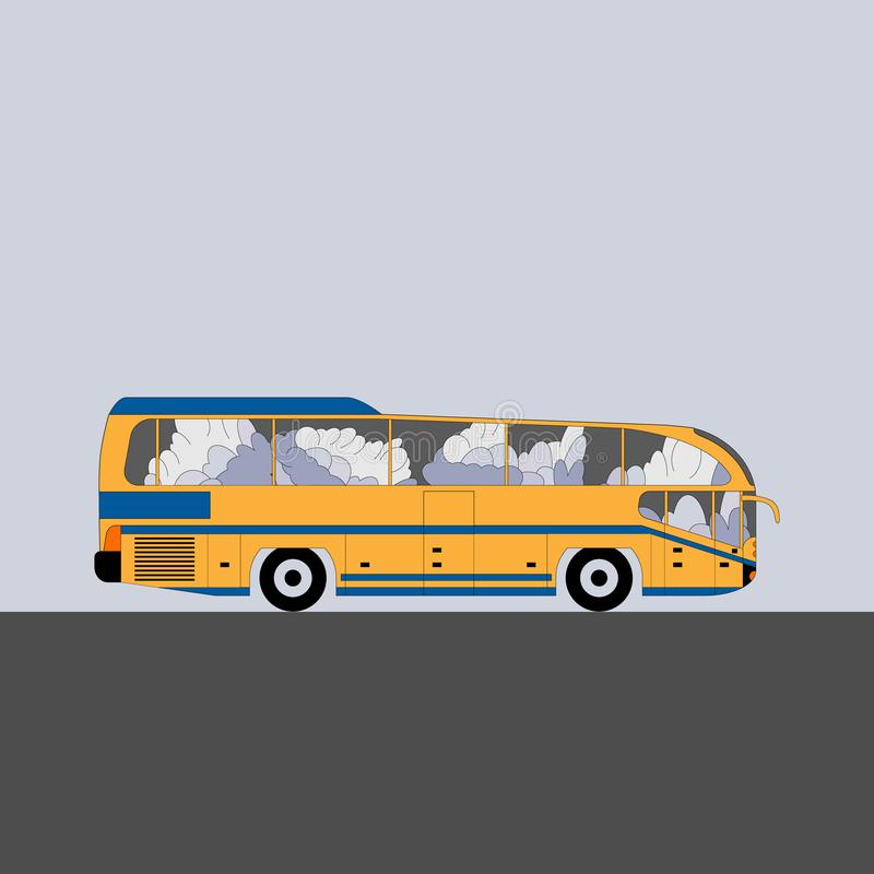 Σύγχρονο intercity λεωφορείο ελεύθερη απεικόνιση δικαιώματος