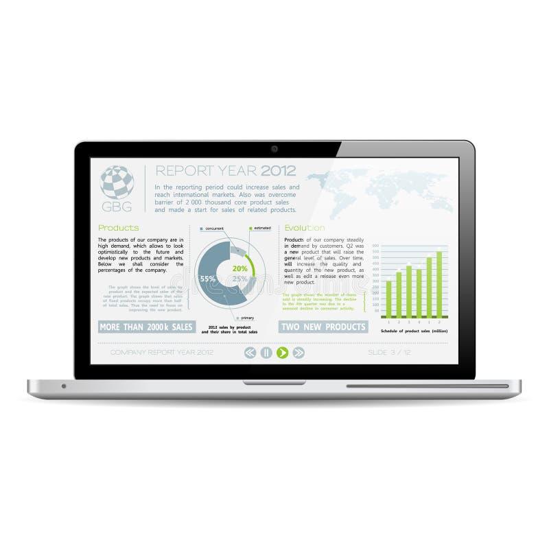 Έκθεση έτους επιχείρησης ελεύθερη απεικόνιση δικαιώματος