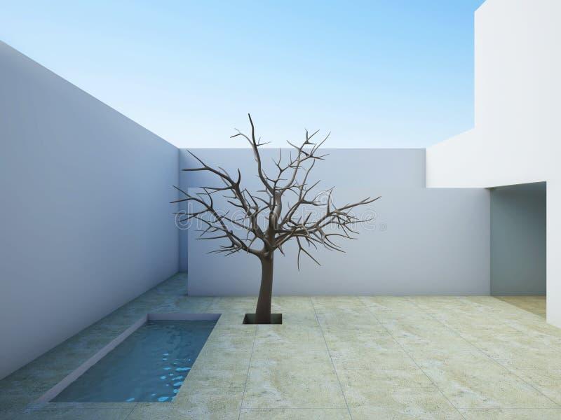 σύγχρονο patio απεικόνιση αποθεμάτων