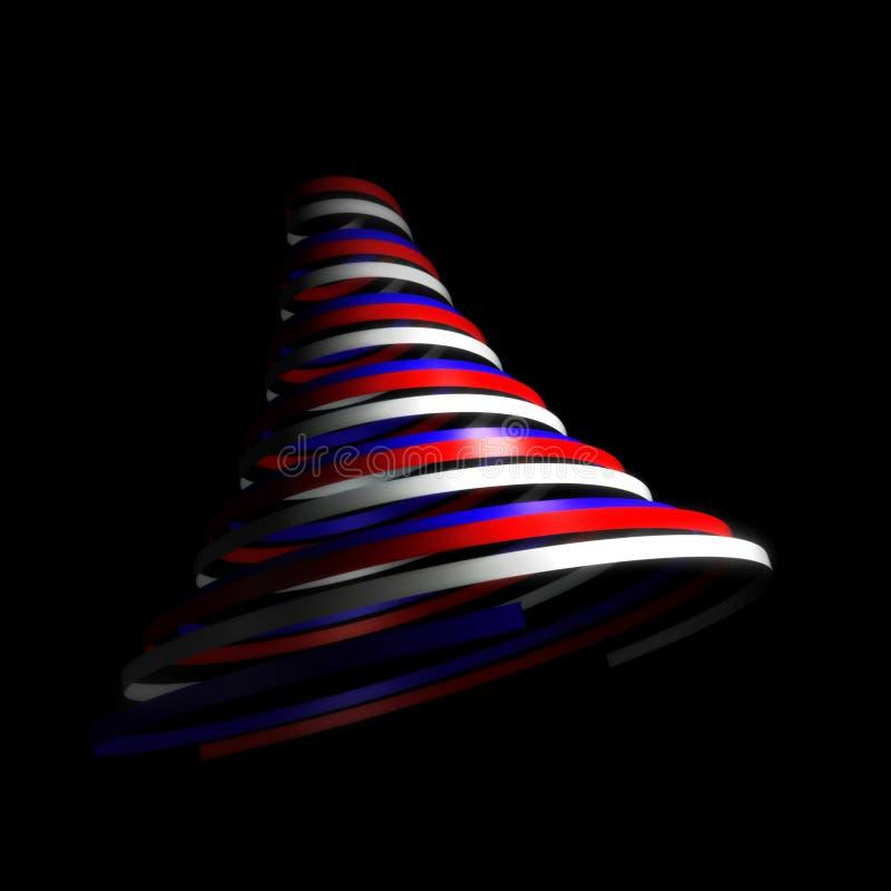 σύγχρονο swirly δέντρο διανυσματική απεικόνιση
