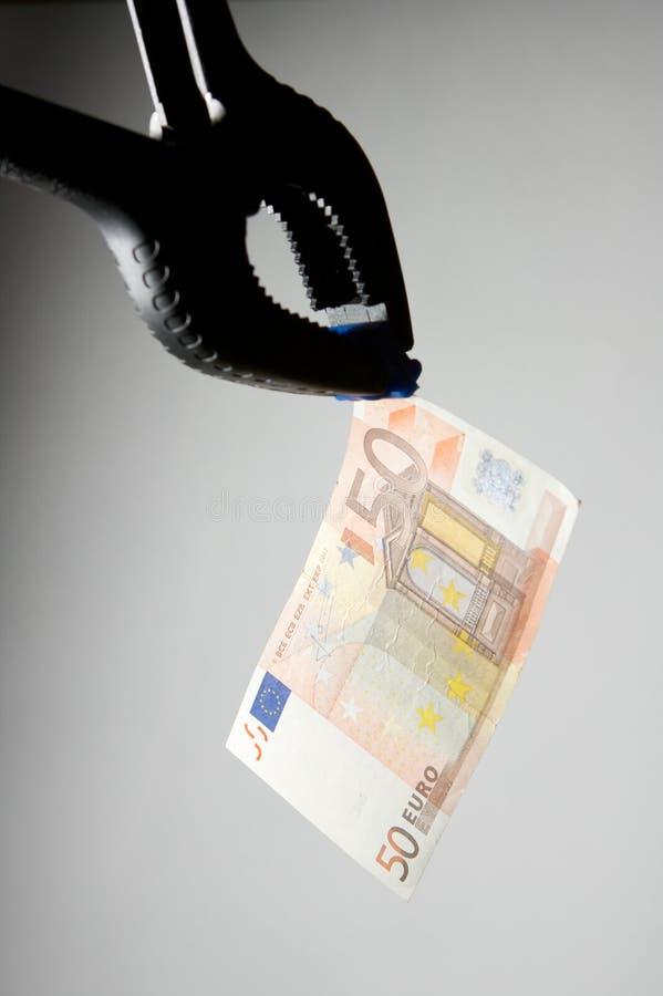 σύλληψη των χρημάτων στοκ φωτογραφία