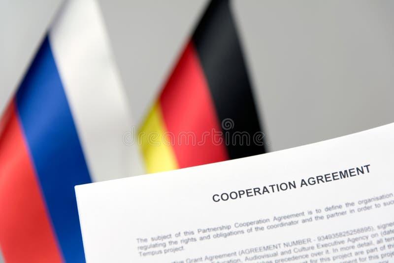 Σύμβαση σημαιών της Ρωσίας Γερμανία στοκ εικόνες με δικαίωμα ελεύθερης χρήσης