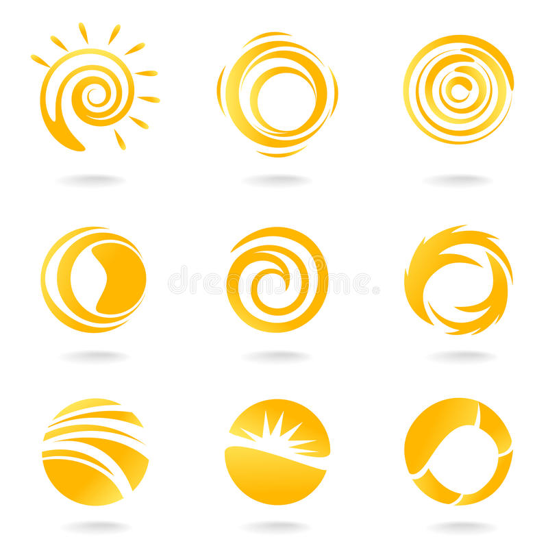σύμβολα ήλιων ελεύθερη απεικόνιση δικαιώματος