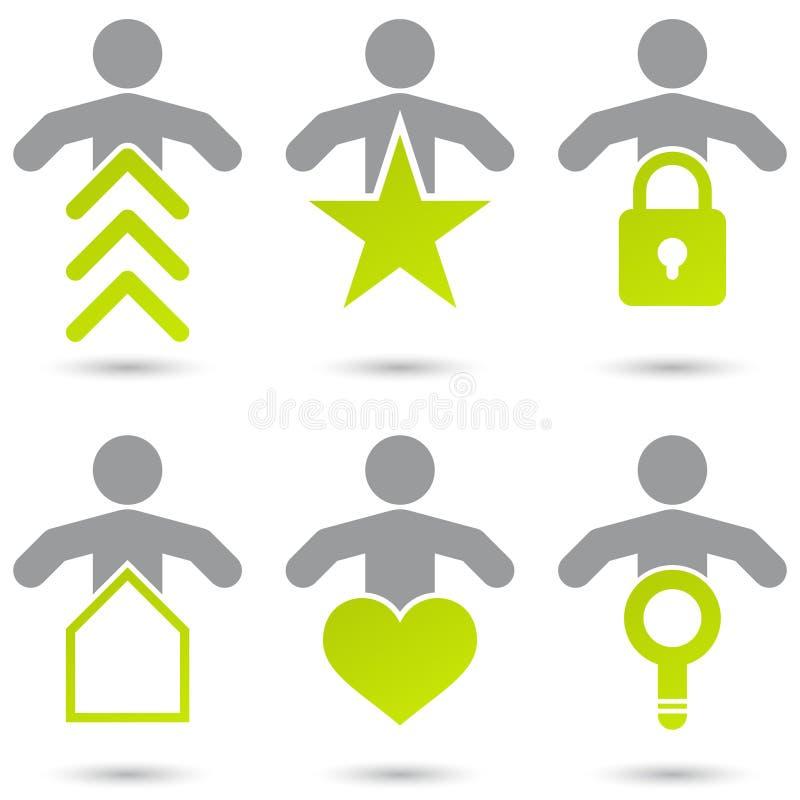 σύμβολα ανθρώπων Διαδικτύ& διανυσματική απεικόνιση