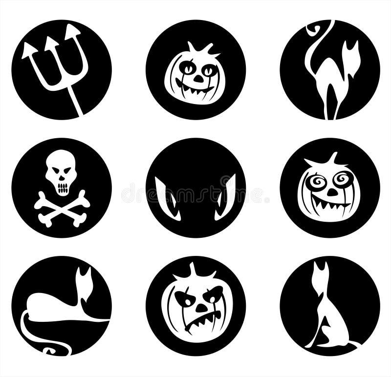 σύμβολα αποκριών απεικόνιση αποθεμάτων