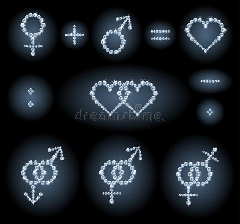 σύμβολα γένους διανυσματική απεικόνιση