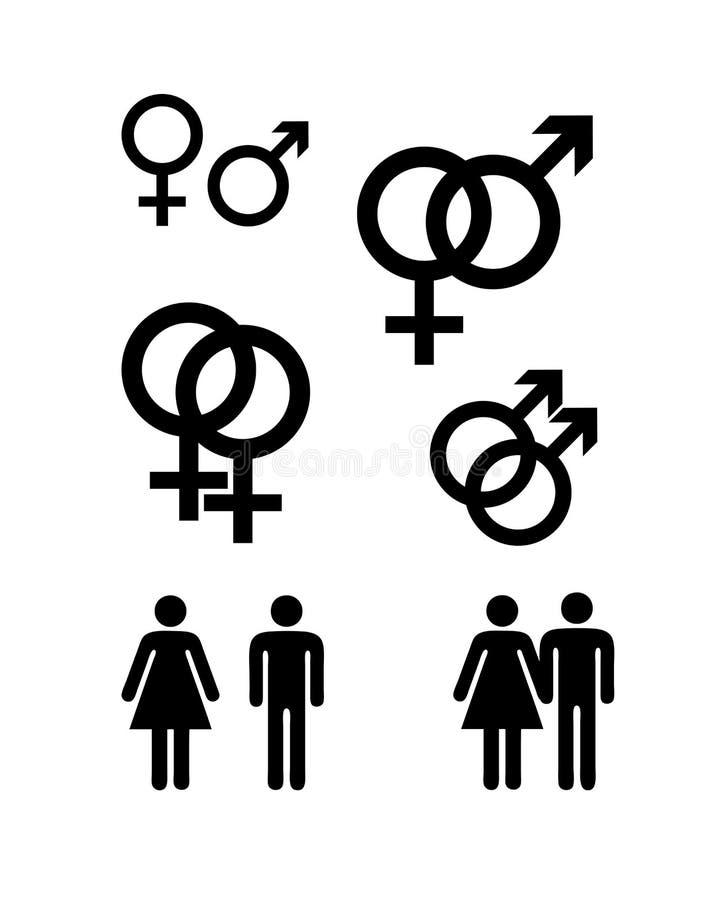 σύμβολα γένους Στοκ Εικόνες