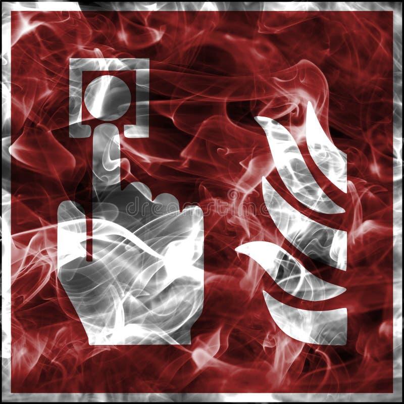 Σύμβολα καπνού έκτακτης ανάγκης για τον πυροσβεστικό εξοπλισμό Τυποποιημένο σημάδι πυρασφάλειας για την κλήση συναγερμών πυρκαγιά ελεύθερη απεικόνιση δικαιώματος