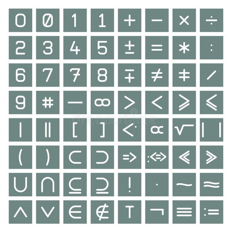 σύμβολα μαθηματικών συλ&lamb ελεύθερη απεικόνιση δικαιώματος