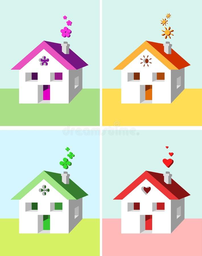 σύμβολα σπιτιών διανυσματική απεικόνιση