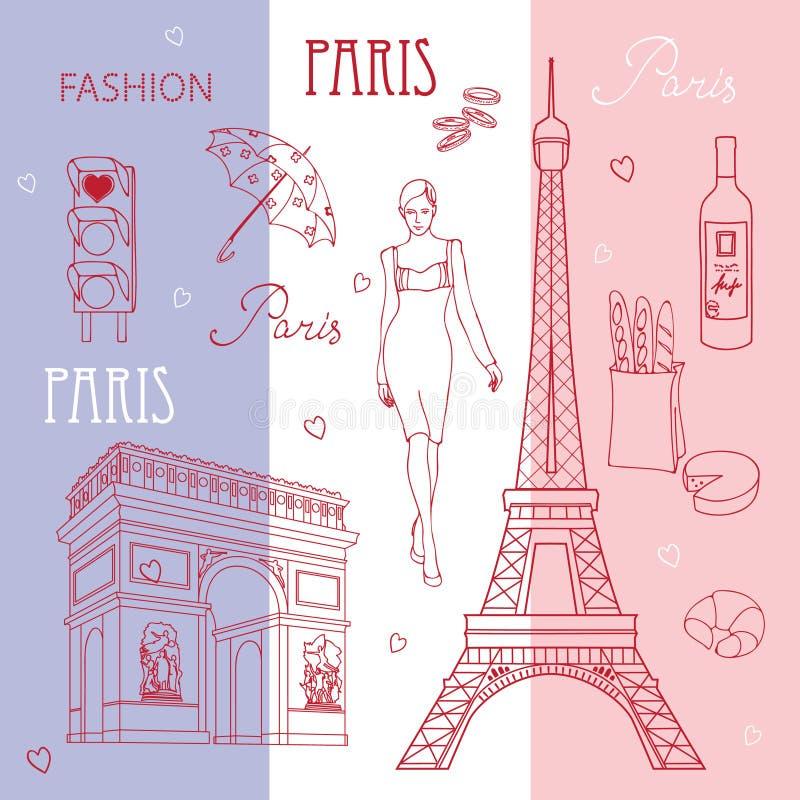 σύμβολα του Παρισιού απεικόνιση αποθεμάτων