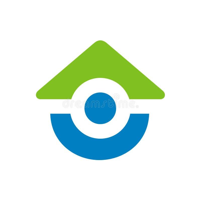 Σύμβολα το σπίτι που συνδυάζεται για με τους ανθρώπους, διανυσματική απεικόνιση