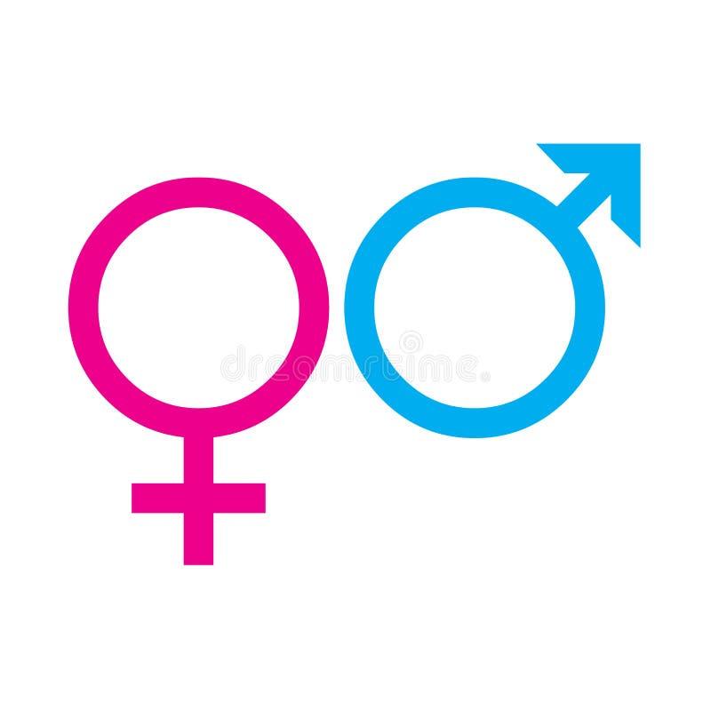 Σύμβολα των γυναικών και των ανδρών διανυσματική απεικόνιση