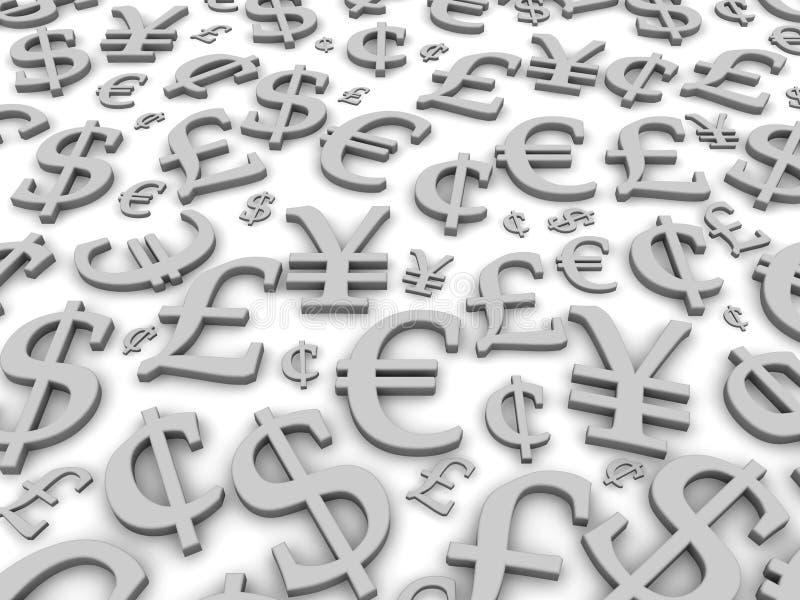 σύμβολα χρημάτων απεικόνιση αποθεμάτων