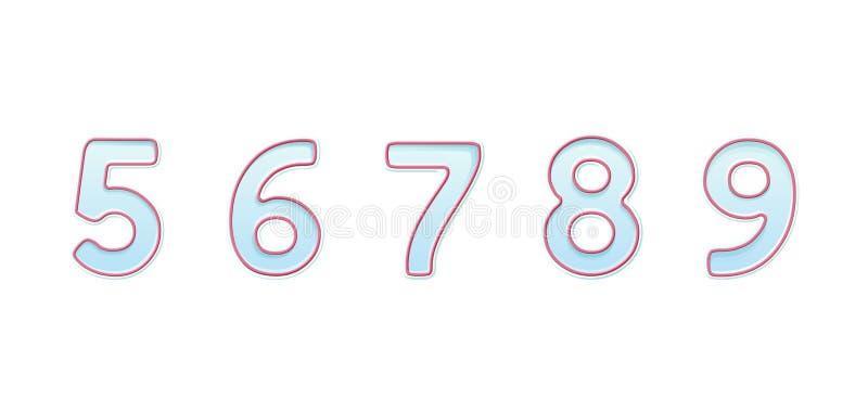 Σύμβολα bector αριθμών κεριών για τα κέικ γενεθλίων διανυσματική απεικόνιση
