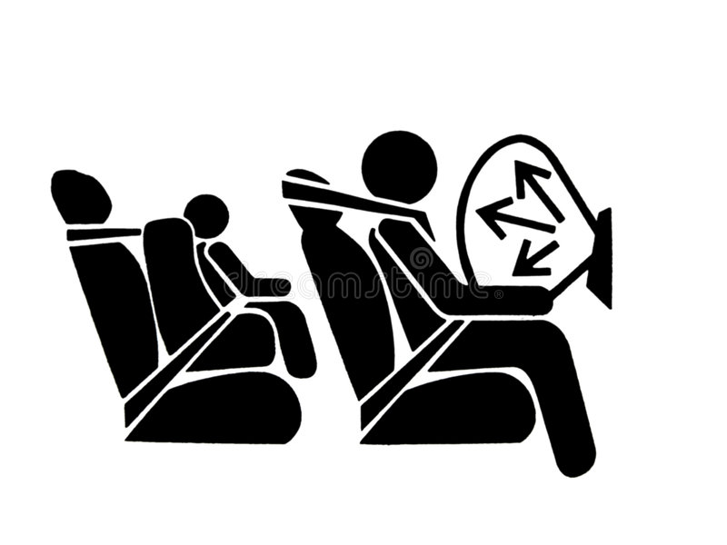 σύμβολο αερόσακων στοκ εικόνες
