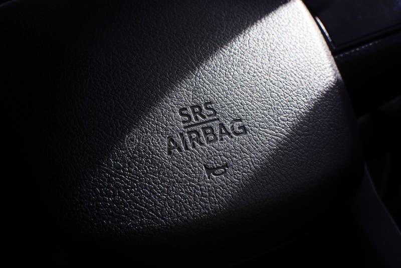 Σύμβολο αερόσακων SRS στοκ φωτογραφίες